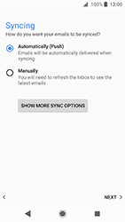 Sony Xperia XA2 - E-mail - Manual configuration IMAP without SMTP verification - Step 20