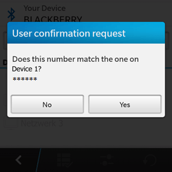 BlackBerry Q10 - Bluetooth - Pair with another device - Step 8