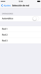Apple iPhone SE iOS 10 - Red - Seleccionar una red - Paso 6