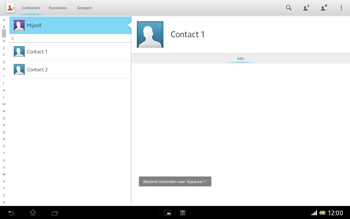 Sony SGP321 Xperia Tablet Z LTE - Contacten en data - Contacten overzetten via Bluetooth - Stap 12