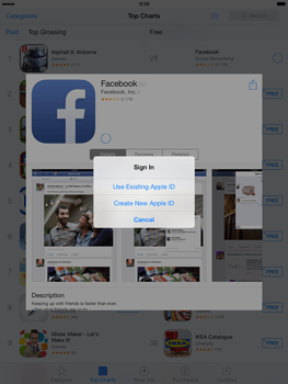 Apple iPad mini iOS 7 - Applications - Downloading applications - Step 7