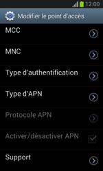 Samsung I8260 Galaxy Core - Internet - Configuration manuelle - Étape 12