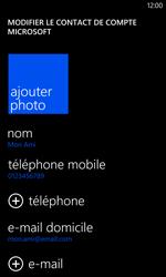 Nokia Lumia 1020 - Contact, Appels, SMS/MMS - Ajouter un contact - Étape 16