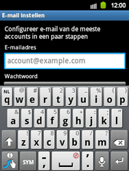 Samsung S5360 Galaxy Y - E-mail - e-mail instellen: IMAP (aanbevolen) - Stap 5