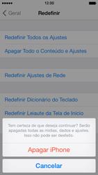 Apple iPhone iOS 7 - Funções básicas - Como restaurar as configurações originais do seu aparelho - Etapa 9