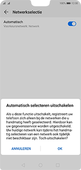 Huawei p20-dual-sim-model-eml-l29-android-pie - Netwerk selecteren - Handmatig een netwerk selecteren - Stap 8