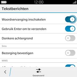 BlackBerry Classic - SMS - Handmatig instellen - Stap 7
