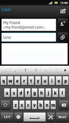Sony MT27i Xperia Sola - E-mail - Sending emails - Step 8