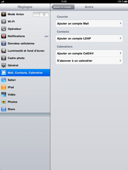 Apple iPad - E-mail - Configuration manuelle - Étape 5