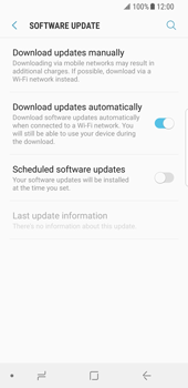 Samsung Galaxy S8 - Android Oreo - Device - Software update - Step 6