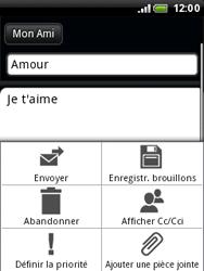 HTC A3333 Wildfire - E-mail - envoyer un e-mail - Étape 8
