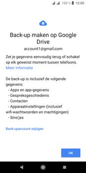Sony xperia-l3 - Beveiliging en privacy - maak een backup met je account - Stap 9