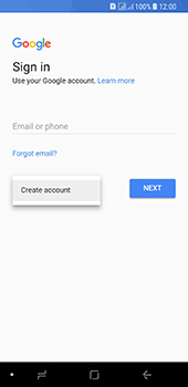Samsung Galaxy A8 (2018) - Applications - Create an account - Step 5