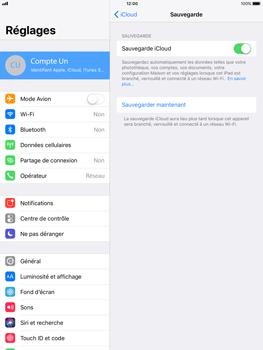 Apple iPad Mini 4 - iOS 11 - Device maintenance - Back up - Étape 13