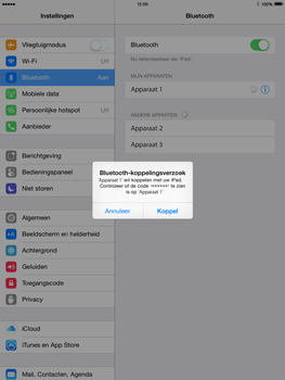 Apple iPad Air iOS 8 - Bluetooth - koppelen met ander apparaat - Stap 8