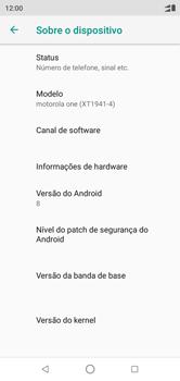 Motorola One - Primeiros passos - Como encontrar o número de IMEI do seu aparelho - Etapa 5