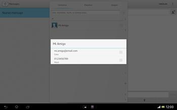 Sony Xperia Tablet Z - Mensajería - Escribir y enviar un mensaje multimedia - Paso 7