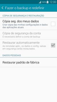 Samsung N910F Galaxy Note 4 - Funções básicas - Como restaurar as configurações originais do seu aparelho - Etapa 5