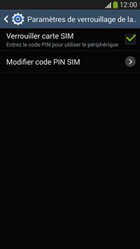 Samsung Galaxy Note 3 - Sécuriser votre mobile - Personnaliser le code PIN de votre carte SIM - Étape 7