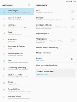 Samsung Galaxy Tab S2 9.7 - Android Nougat - Instellingen aanpassen - Fabrieksinstellingen terugzetten - Stap 4
