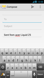 Acer Liquid Z5 - Email - Sending an email message - Step 5
