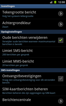Samsung N7000 Galaxy Note - SMS - handmatig instellen - Stap 4