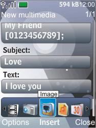Nokia 7210 supernova - MMS - Sending pictures - Step 12