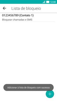 Asus Zenfone 3 - Chamadas - Como bloquear chamadas de um número específico - Etapa 13