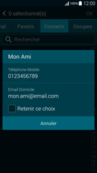 Samsung Galaxy Alpha - Contact, Appels, SMS/MMS - Envoyer un SMS - Étape 7