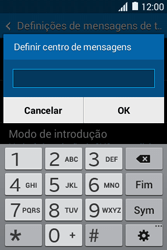 Samsung Galaxy Young II - SMS - Como configurar o centro de mensagens -  8