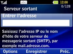 LG C320 InTouch Lady - E-mail - Configuration manuelle - Étape 8