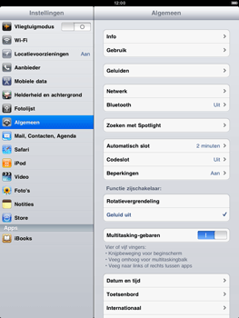 Apple iPad 2 - Bluetooth - Aanzetten - Stap 2
