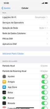 Apple iPhone XR - Rede móvel - Como definir um aviso e limite de uso de dados - Etapa 4