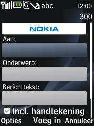 Nokia 2730 classic - E-mail - e-mail versturen - Stap 6