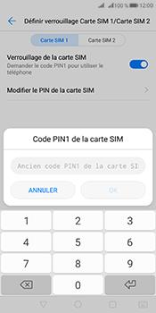 Huawei Mate 10 Pro - Sécuriser votre mobile - Personnaliser le code PIN de votre carte SIM - Étape 8
