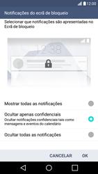 LG K10 4G - Segurança - Como ativar o código de bloqueio do ecrã -  11