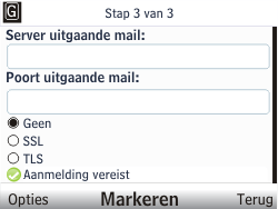 Nokia C3-00 - E-mail - handmatig instellen - Stap 10