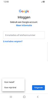 Samsung galaxy-s8-sm-g950f-android-pie - Applicaties - Account aanmaken - Stap 6