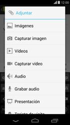 Motorola Moto X (2ª Gen) - Mensajería - Escribir y enviar un mensaje multimedia - Paso 12