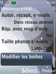 Nokia 7210 supernova - E-mail - Configuration manuelle - Étape 6