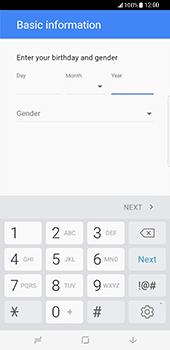 Samsung Galaxy S8 Plus - Applications - Create an account - Step 8