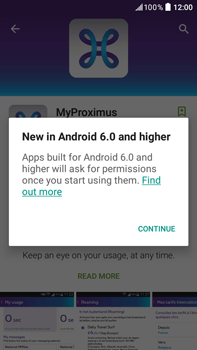 HTC Desire 825 - Applications - MyProximus - Step 9