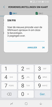 Samsung galaxy-a8-2018-sm-a530f-android-oreo - Beveiliging en ouderlijk toezicht - Hoe wijzig ik mijn SIM PIN-code - Stap 11