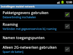 Samsung B5510 Galaxy TXT - Internet - aan- of uitzetten - Stap 6