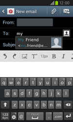 Samsung I9105P Galaxy S II Plus - Email - Sending an email message - Step 6