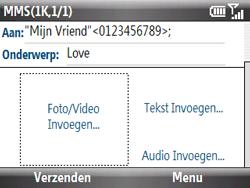 HTC S521 Snap - MMS - Afbeeldingen verzenden - Stap 9