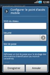 Samsung Galaxy Ace - Internet et connexion - Partager votre connexion en Wi-Fi - Étape 10