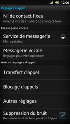 Sony MT27i Xperia Sola - Messagerie vocale - Configuration manuelle - Étape 5