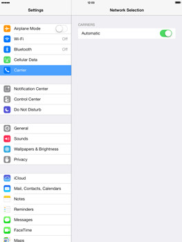 Apple iPad mini iOS 7 - Network - Usage across the border - Step 4