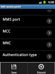 Samsung S5360 Galaxy Y - MMS - Manual configuration - Step 11